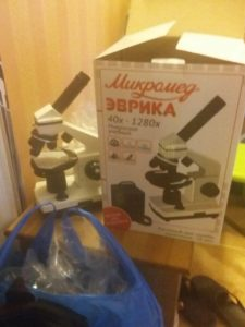 Отзыв о микроскопе школьном Микромед Эврика 40х-1280х в кейсе