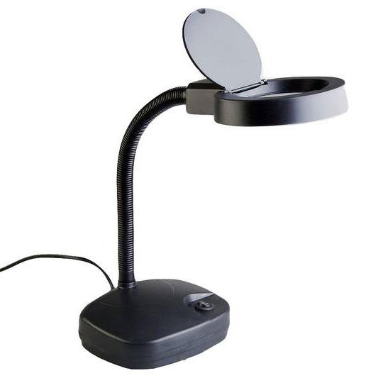 Лампа-лупа с подсветкой Veber 8611 3D, 3дптр, 86 мм, черная