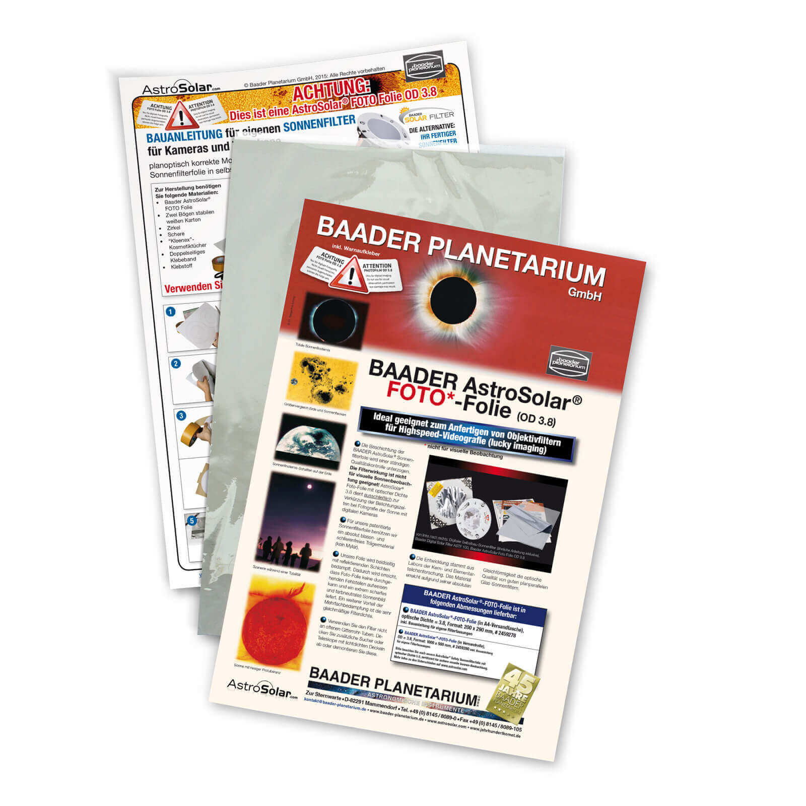 Пленка Baader AstroSolar Foto (20х30 см)