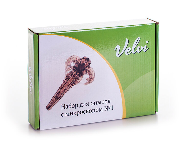 Набор для опытов с микроскопом Velvi №1